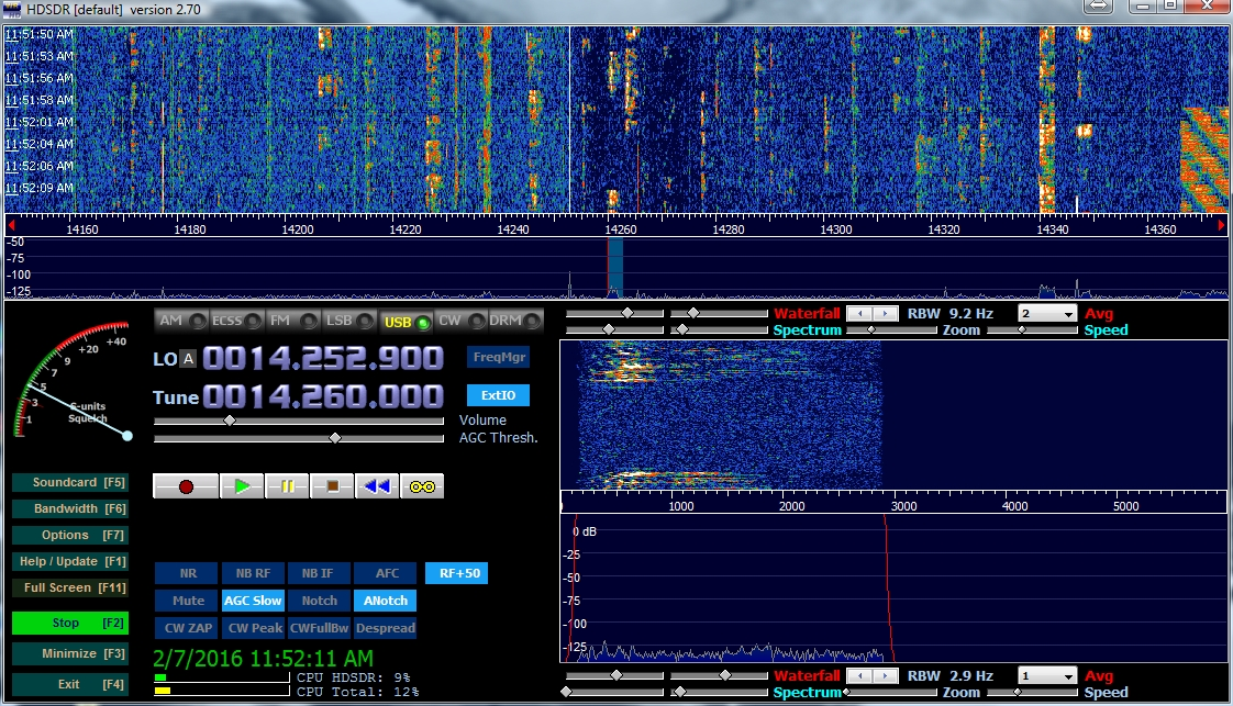 Using the RTL-SDR Pan-adapter – Squash Practice